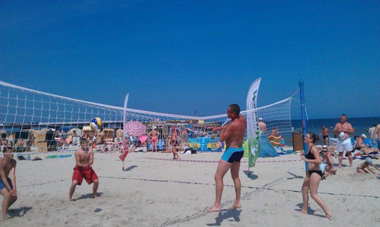 Turniere und Freizeitanimation am Strand,