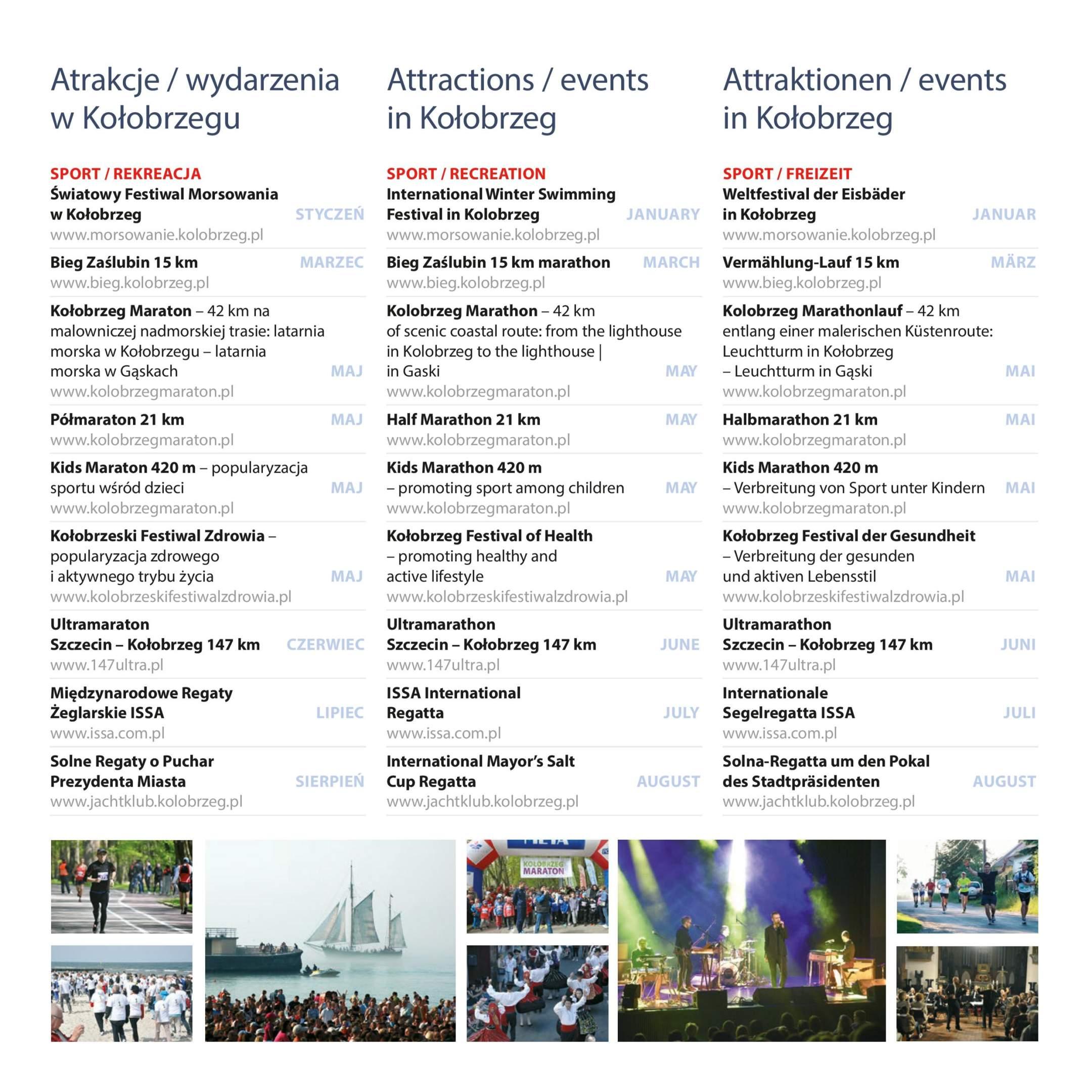 Veranstaltungs, Attraktionen, Kalender, Kolberg