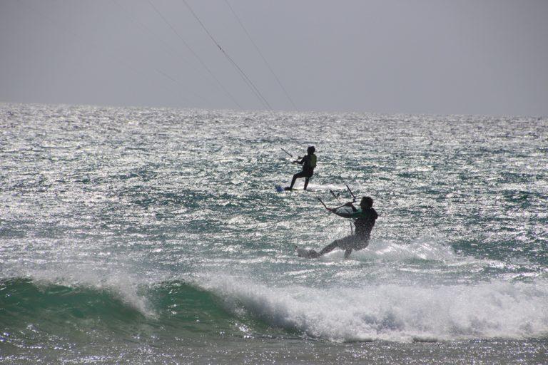 Kitesurfen, Windsurfen